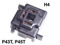 Lampunkanta H4-polttimolle, jousikuormitus liitos
