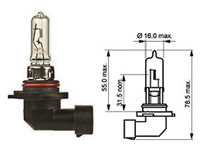 Halogenpolttimo HIR255W, (PX22d) 12V