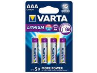VARTA Lithium AAA 4 kpl