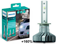 Philips LED-Ajovalopolttimopari H1 Ultinon Pro5000