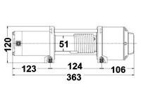 Sähkövinssi Rock 12V 1589 kg, vaijeri 12,8m