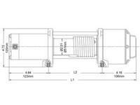Rock sähkövinssi, 2268kg 12V,IP67