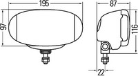 HELLA Kaukovalo srj Comet FF 550 ( ref.12,5)