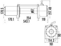 IronX Sähkövinssi, nopea 24V 4313kg vaijeri