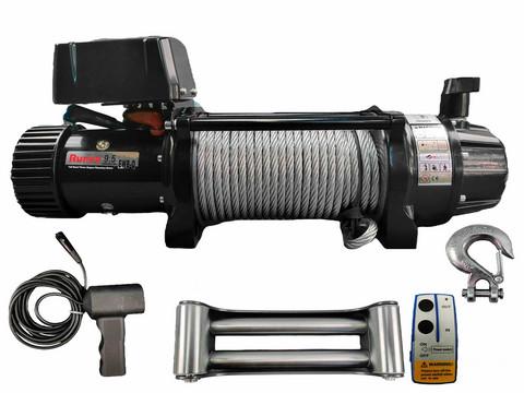 Runva Sähkövinssi 12V Kaukosäätimellä 9.5-Q Black Edition vaijerilla