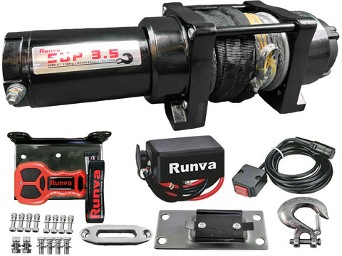 Runva Electric Winch 1588 kg 12v SUP3.5 with Dyneema rope