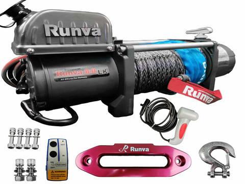 Runva Electric winch 3629 kg 12v EWL8000 With Synthetic rope