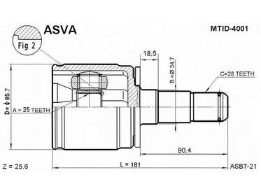 Mitsubishi Pajero CV-nivel sisempi, MB526273 0411-PD4WLH