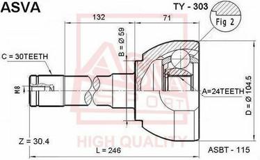 Toyota HD80 CV nivel ulompi, 43405-60100 43405-60110