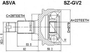 Suzuki Samurai CVC-Nivel, 44118-78K00 44118-65J00