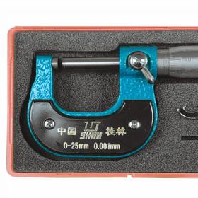 Kaarimikrometri 0-25mm, resoluutio 0.001