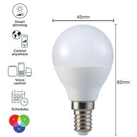 Tuya RGB älylamppu, e14, himmennettävä, WI-FI, 350 lm