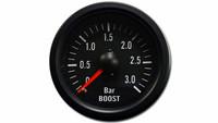 iGauge Boost Pressure Gauge 3BAR 52mm, Black