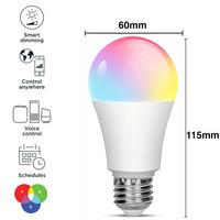 RGB smart LED Bulb, e27, dimmingable, WI-FI, 1080 lm