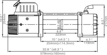 Runva EWX 12000U Sähkövinssi 12v/24v (5443kg) köydellä