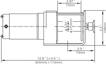 Runva EWX3000 Mönkijän Sähkövinssi 12v (1361kg) vaijerilla