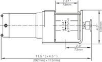 Runva EWX 2000 Sähkövinssi 12v (907kg) vaijerilla