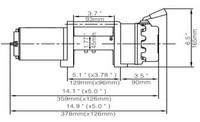 Runva 4.5x Sähkövinssi 12v (2041kg) vaijerilla