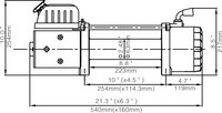 Runva EWX9500Q Electric Winch 12V 4309kg with wireless remote control