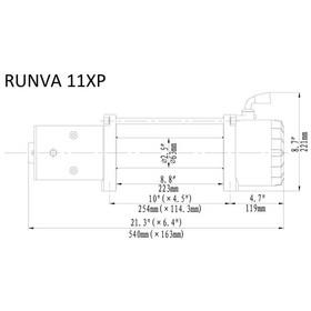 Runva 11XP Sähkövinssi 12v/24v 4990kg vaijerilla