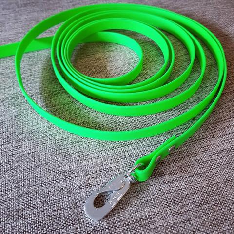 6 m PVC-päällystetty jälki- ja koulutusliina, BGB-haka M (16 mm PVC-nauha)