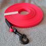 10 m PVC-päällystetty jälki- ja koulutusliina, liipasinlukko L (16 mm PVC-nauha)