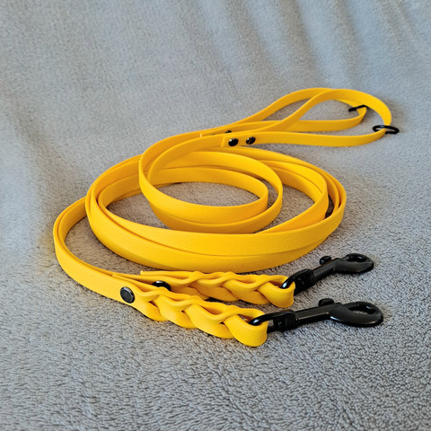 Let It QwiDog vinyylitalutin 200 cm/13 mm, keltainen