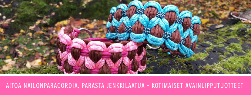 Paracordpanta Qorento by QwiDog handmade. Handcrafted in Finland.