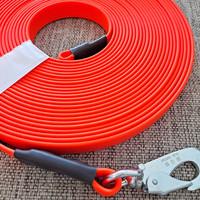 10 m PVC-päällystetty jälki- ja koulutusliina, BGB-haka M (16 mm PVC-nauha)