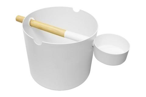 KOLO Saunasetti, kiulu + kauha, valkoinen