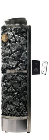 Seinä-IKI 9 kW sähkökiuas, UKU GB WiFi ohjauskeskus