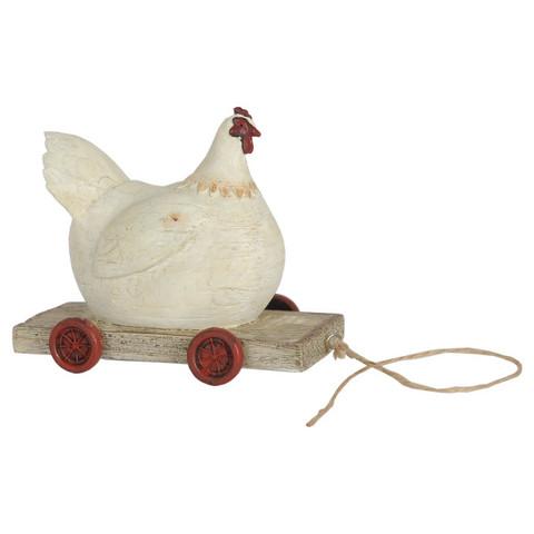 Vedettävä pullea kananen