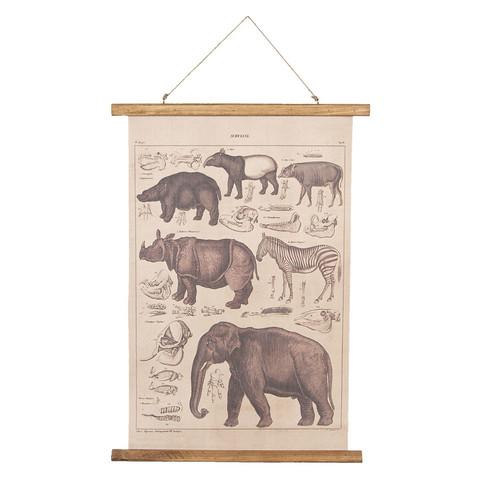 Opetustaulu norsu ja kaverit