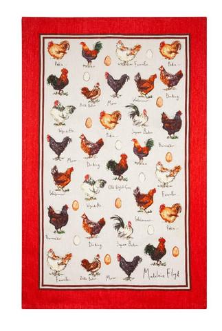 Keittiöpyyhe kanat ja munat 2