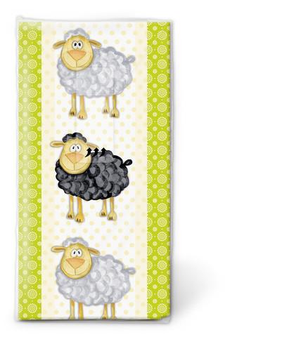 Iloiset lampaat nenäliina