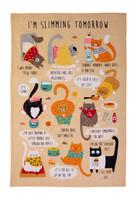 Keittiöpyyhe kissat laihduttaa