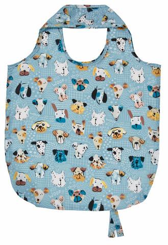 Veikeät koiranaamat kassi ostoksille
