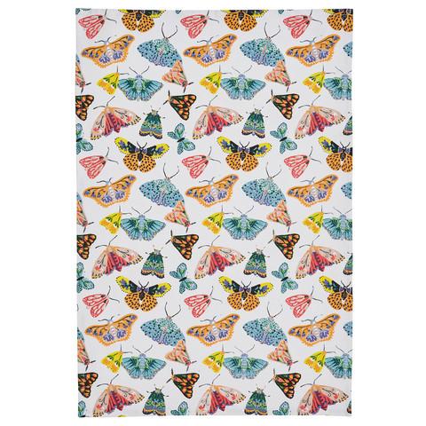 Keittiöpyyhe perhoset valkoisella taustalla