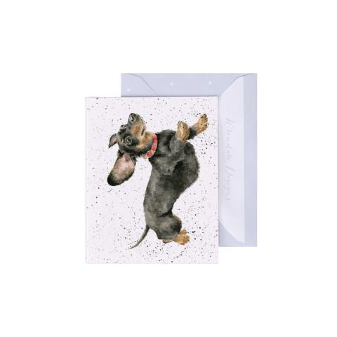 Wrendale mäyräkoira-minikortti