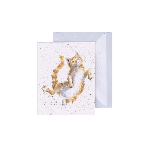Wrendale oranssi kissa -minikortti