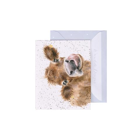 Wrendale lehmä-minikortti