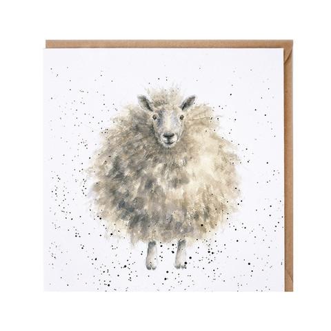 Wrendale pörröinen lammas kortti