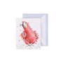 Wrendale punainen papukaija-minikortti