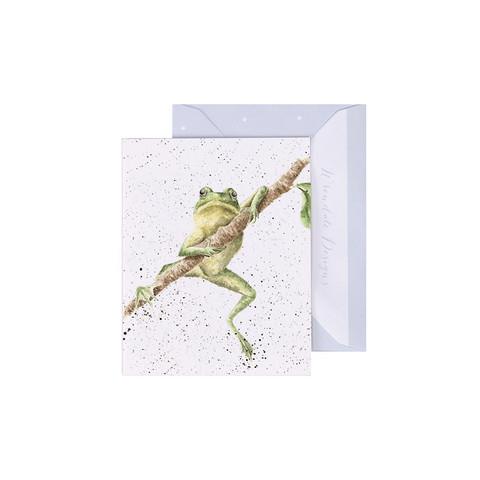 Wrendale sammakko oksalla-minikortti