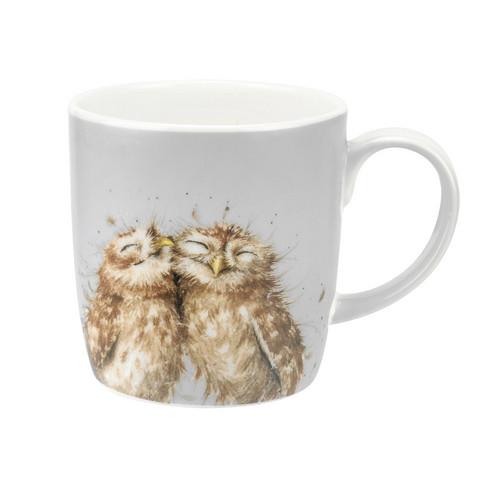Wrendale onnelliset pöllöt isompi muki