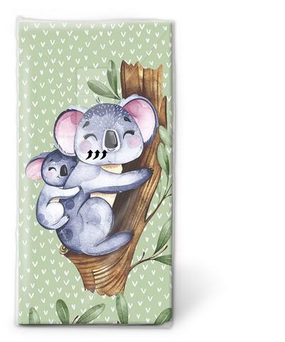 Koala mamma ja poikanen nenäliina