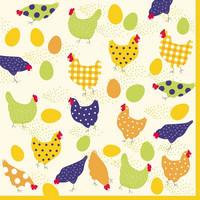 Värikkäät kanaset kahviservetti