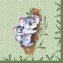 Koalamamma ja poikanen ruokaservetti
