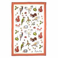 Keittiöpyyhe oravat ja linnut