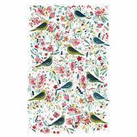 Keittiöpyyhe linnut ja kukat